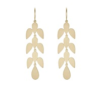 Irene Neuwirth Leaf Motif Drop Earrings
