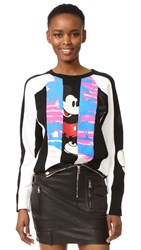 Marc Jacobs Long Sleeve Raglan Sweatshirt Black Multi