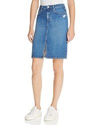 Nobody Geo Denim Pencil Skirt In Joy