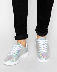 Asos Trainers In Iridescent White