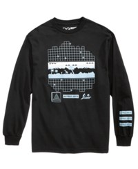 Lrg Men's Astro Mirage Long Sleeve T Shirt Black