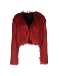 Marco Bologna Coats And Jackets Faux Furs Red