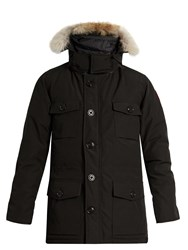 Canada Goose Banff Fur Trimmed Down Parka Black