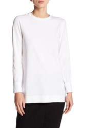 Dkny Extra Long Sleeve Bonded Hem Shirt White