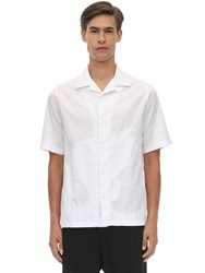 Mcq By Alexander Mcqueen Monster Cotton Twill Bowling Shirt White