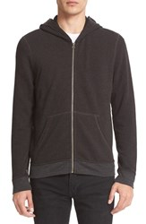 Atm Anthony Thomas Melillo Men's French Terry Full Zip Hoodie Heather Charcoal