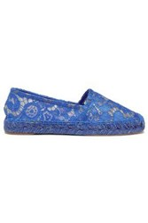Dolce And Gabbana Woman Corded Lace Espadrilles Blue