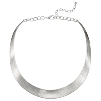 John Lewis Brushed Torque Necklace Silver