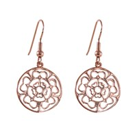 Hoochie Mama Rose Medallion Earrings Rose Gold