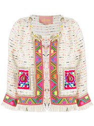 Amuse Extra Tweed Jacket Women Polyester Spandex Elastane M White