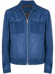 Drome Fitted Lightweight Jacket Blue