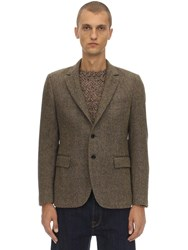 Massimo Piombo Virgin Wool Jacket Ochre