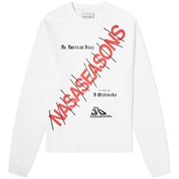 Nasaseasons Long Sleeve American Story Print Tee White