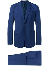 Prada Single Breasted Suit Blue