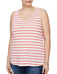 Junarose Holly Striped Tank Top White