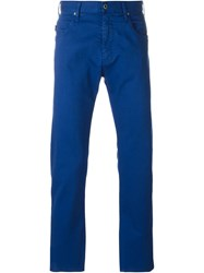 Armani Jeans Stretch Fabric Slim Fit Chinos Blue