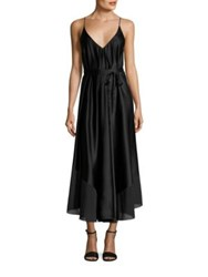 Alexander Wang Habotai Silk Charmeuse Dress Black