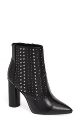 Bcbgmaxazria Bcbg Hollis Studded Bootie Black Faux Leather