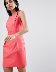 Sisley Tailored Dress With Hardware Detail Pink