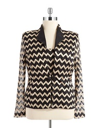 Cachet Two Piece Jacket Set Black And Gold
