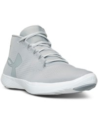 Under Armour Women's Street Precision Mid Running Sneakers From Finish Line Overcast Gray Glacier Gra