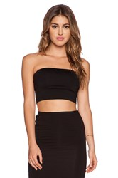 Susana Monaco Tube Crop Top Black