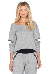 Blue Life Open Arm Pullover Gray