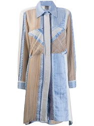 Lorena Antoniazzi Striped Shirt Dress Blue