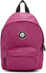 Versus Pink Nylon Small Lion Backpack