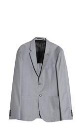Joseph Cotton Melange Suit Blazer Grey