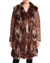 Nic Zoe And Faux Fur Puffer Jacket Multi