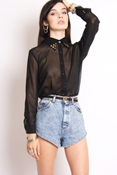 Yayer.Co.Uk Cross To Bare Studded Shirt