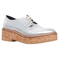 Kg By Kurt Geiger Ludo Chunky Platform Leather Brogues Silver