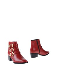Mr Wolf Mr. Ankle Boots Brick Red