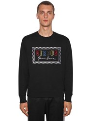 Versus By Versace Logo Embroidered Crewneck Sweater Black