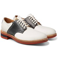 Visvim Patrician Folk Two Tone Leather Derby Shoes Midnight Blue