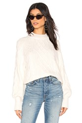 1.State Mixed Cable Knit Sweater Ivory