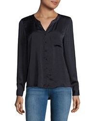 Vero Moda Button Front Shirt Blue