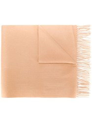 N.Peal Large Woven Cashmere Scarf Neutrals