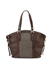 Oryany Betsy Chain Weave Tote Bag Brown