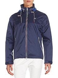 Gant Regular Fit Hooded Nylon Jacket Blue