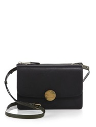 Marc Jacobs Party Girl Two Tone Leather Crossbody Bag Black Military