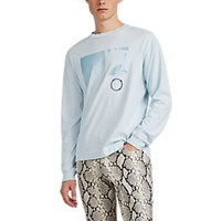 Alyx Graphic Cotton Long Sleeve T Shirt Lt. Blue