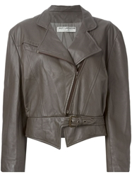 Guy Laroche Vintage Biker Jacket Brown