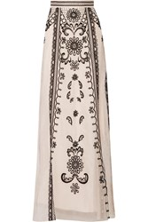 Temperley London Delphia Embroidered Silk Organza Maxi Skirt
