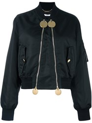 Givenchy Double Zip Bomber Jacket Black