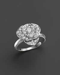 Bloomingdale's Diamond Flower Statement Ring In 14K White Gold .30 Ct. T.W.