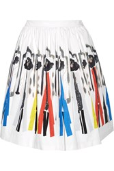 Alice Olivia Hale Printed Stretch Cotton Skirt