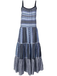 Lemlem Striped Full Dress Blue