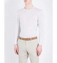 Gieves And Hawkes Crewneck Wool Jumper Off White